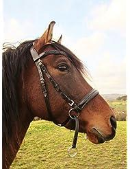"'suave Fusions–Bocado hackamore inglés para caballo–Bocado anatómica Tilia "", Pony - Farbe Natur"