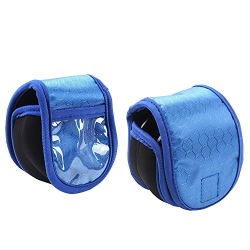 Maxcatch 2 Stücke Fliegenfischen Rolle Tasche, Neoprene Fliegenrolle Schutz Hülle, 3 Farbe (Blau)