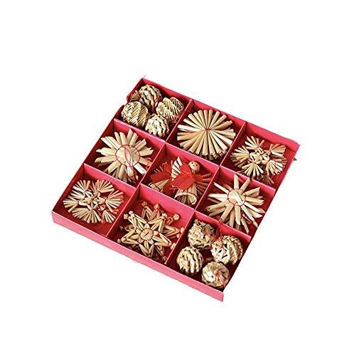Addobbi per albero di natale fai da te creativo in legno intrecciato regali di natale decorazioni per interni accessori per la casa ciondolo in stoffa di natale