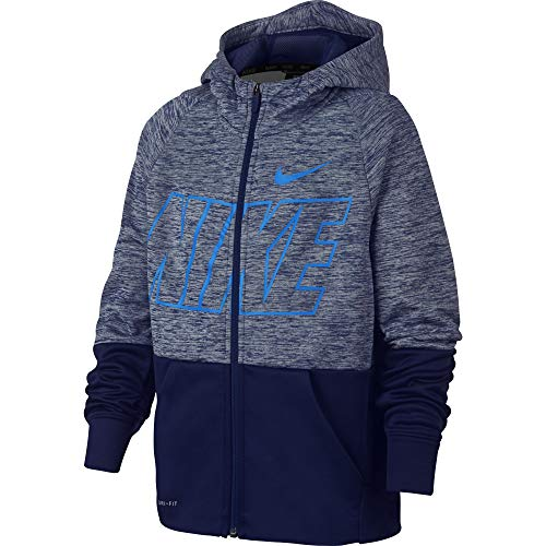 Nike Jungen Jacke Dri-Fit Therma M Blue Void/Pure/Blue Void/(Blue Hero)