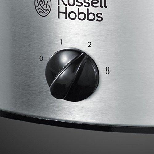 Russell Hobbs Cook Home 22740-56 - Olla de Cocción Lenta, Cocina Lenta, Olla Baja Temperatura, Acero Inoxidable, 3.5 l, Gris