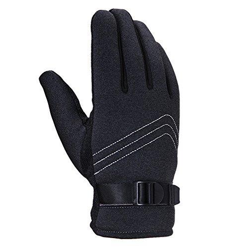 MOMO Guanti termici motociclisti guanti da equitazione esterni guanti termici antiscivolo,I - Cenere nera,F