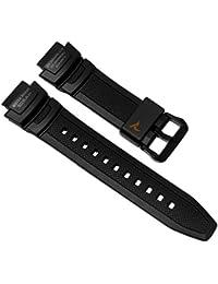 Casio Collection Ersatzband Uhrenarmband Resin Band schwarz passend zu SGW-1000 10500704