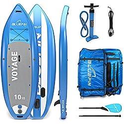Bluefin SUP Planche de Stand Up Paddle Gonflable | Modèle Voyage 10'10 | Design Stable| Complet avec Tous les Accessoires
