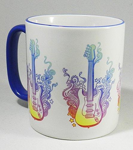 Die Gitarre Tasse–2Tone Keramik - Gitarre Strumpf