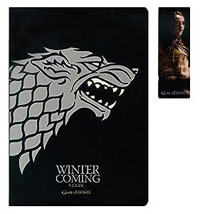 SD toys - Game of Thrones, Stark, Set libreta y Punto de Libro (SDTHBO02076)