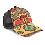 Inaayayi Gorra de béisbol Unisex con símbolo de la Paz, Estilo Hippie, Vintage, para...