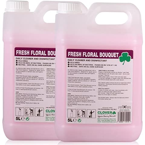 Fresh Floral Bouquet Fragranced Antibacterial, Disinfecting, Deodoriser Cleaner (10L).