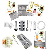 molecule-r Ultimate Triple Pack cucina molecolare gastronomia e kit Culinary food styling siringa marinata iniettore e molecolare gastronomia ricettario con 40 ricette New – Special Triple Combo Pack