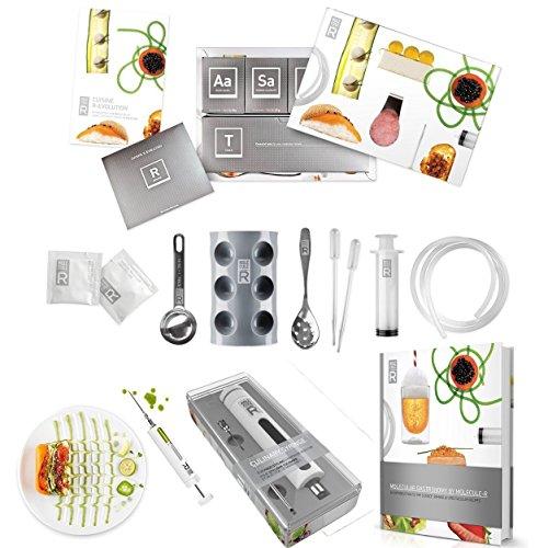 Molecule-R Ultimate Triple Pack Cuisine Molekulare Gastronomie Kit und Culinary Lebensmittel Styling Spritze marinadespritze und Molekularküche Kochbuch mit 40neuen Rezepten–Spezielle Triple Combo Pack (Essbare Gun)