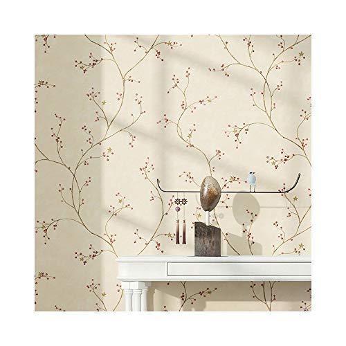 Preisvergleich Produktbild ZALIANG Amerikanischen Garten Tapete Wohnzimmer Schlafzimmer Warm Vlies TV Hintergrund Wand Papier Grün Kleine Muster Wandaufkleber (Farbe : A)
