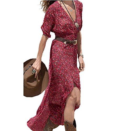 nice-buy-mujeres-vestidos-maxi-impresin-floral-v-neck-de-la-elstico-cintura-bohemia-verano-maxi-del-