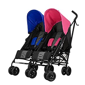 Obaby Apollo Twin Stroller (Pink/Blue) from Obaby