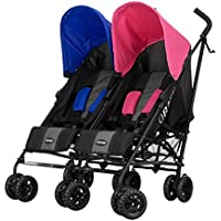 Obaby Apollo Twin Stroller (Pink/Blue)