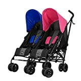 Obaby Apollo Twin Stroller - Pink/Blue