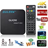 Guleek GLK200 Android 5.1 TV BOX 4K Lettore multimediale in streaming a pieno carico con Amlogic S905X Quad-core a 64 bit DDR3 1G eMMC 8G