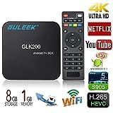 Guleek GLK200 Android 5.1 TV Box 4K HD Player mit Amlogic S905X Quad-Core 64-Bit DDR3 1G Emmc 8G für Video und Spiele