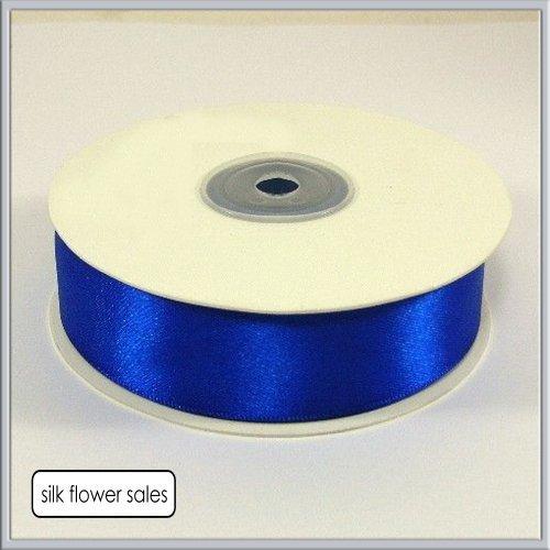 Doppelseitiges Satinband, 25mm x 25m, in Blau (Royal Blau) -