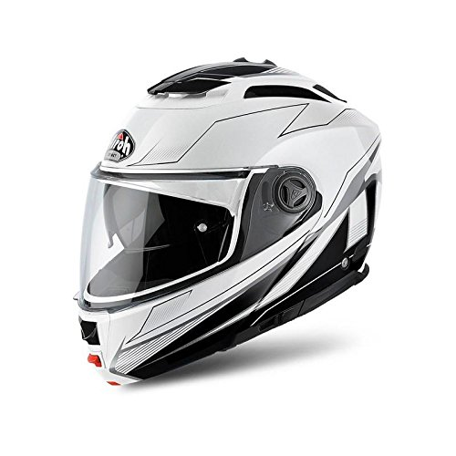 Airoh Phantom Spirit - Casco modular negro y blanco XL White Gloss