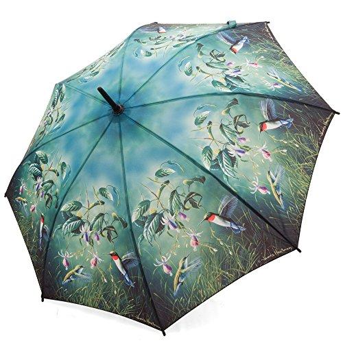 galleria-enterprises-inc-parapluie-droit-fuchsia-et-colibri