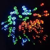 UK Home & Garden Store 200 Multi-Coloured Solar LED String Fairy Lights Garden Party