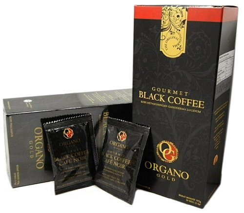 4scatola Organo Gold Gourmet Cafe Noir, nero caffè 100% Certified Ganoderma Extract Sealed (1confezione da 30bustine) by Organo Gold