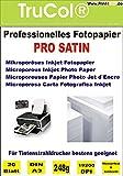 20 Blatt DIN A3 PRO Satin/glänzend seidenglänzend 248g /m² mikroporöses beschichtet Silk Inkjet Fotopapier schnelltrocknend wasserfest lichtecht Keramik beschichtet bis 19200 DPI bedruckbar
