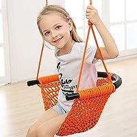 Arkmiido Asiento abatible para niños de 2 a 15 años con Asiento abatible Tejido Exterior de Nylon con Interior de Tubo de Acero con Capacidad de hasta 400 Libras (Naranja)
