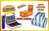 IRPot - 4500 FILTRI SLIM RIZLA + 2 BOX DA50 LIBRETTI CARTINE OCB ORANGE CORTE + ROLLATORE + ACCENDINO