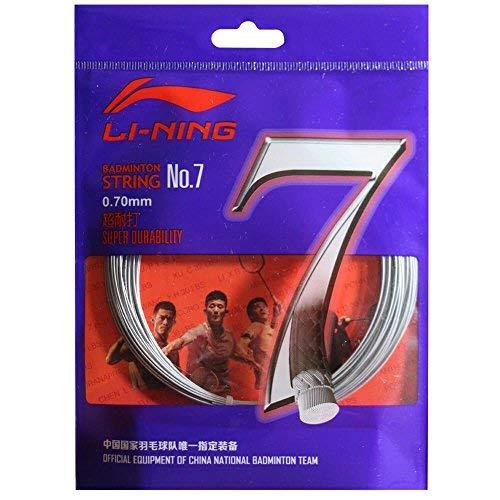 Li Ning No 7 Badminton Racquet String  White