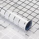 VORCOOL Fliesenaufkleber Mosaik Tapete Anti Öl Wasserdicht Wandaufkleber Selbstklebend Küche Bad Wanddeko 45 x 200 cm (Silber)