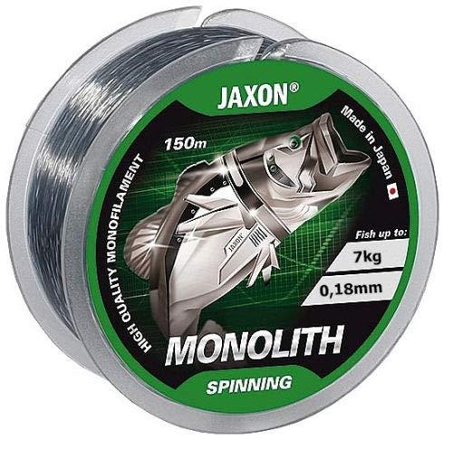 Jaxon Angelschnur Monolith Spinning Spule 150m / 0,16-0,35mm Monofile (0,18mm / 7kg)