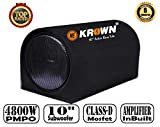 #3: Krown 4800W PMPO Bass Tube with Inbuilt Class-D Amplifier & 10 inch Subwoofer (D Shape)