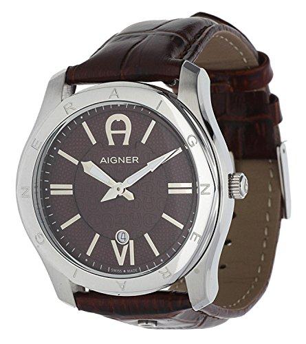 Aigner Herren Uhr Armbanduhr Leder Lazio A42117A