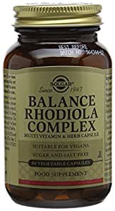 Solgar Balance Rhodiola Complex Vegetable Capsules - Pack of 60
