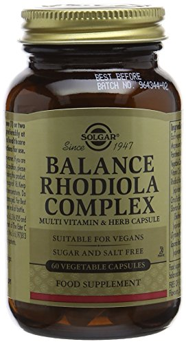 Solgar Balance Rhodiola Complex Vegetable Capsules - Pack of 60 Test