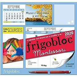 Frigobloc Montessori 2020 - Calendrier d'organisation familiale (de sept. 2019 à déc. 2020)