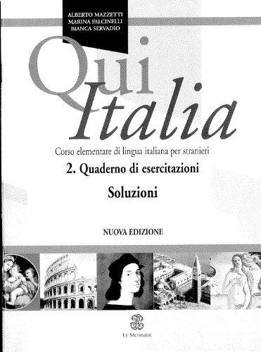 Qui Italia: Soluzioni (Italian Edition) by Alberto Mazzetti (2005-06-14)