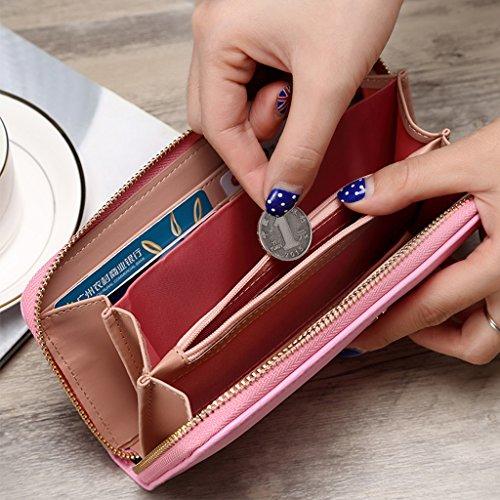 Piccola borsa femminile sezione lunga della Multi-purpose Student Card Zipper Piccole Donne fresco della frizione della borsa ( colore : Viola ) Rosy Red