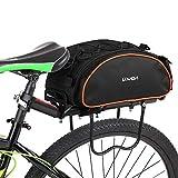 Lixada Bolsa Trasera para Bicicleta Multifuncional Bolsa de...