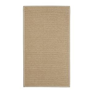 Machine-woven 100% sisal Rugs , flatwoven - Edge fabric 100% cotton, Natural (80cm x 140cm) by CSC