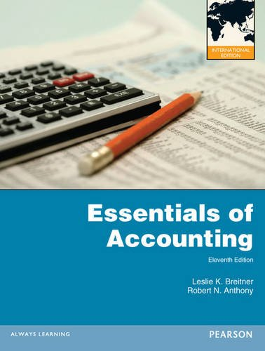 Essentials of Accounting:International Edition