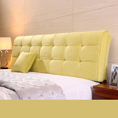Dossier De Chevet Coussin ergonomique moderne Linge de tissu Linge de lit sans poche Grand dossier Ensemble de coussin Housse de lit Grande oreiller Pure Color 58 * 120cm (Couleur : C)