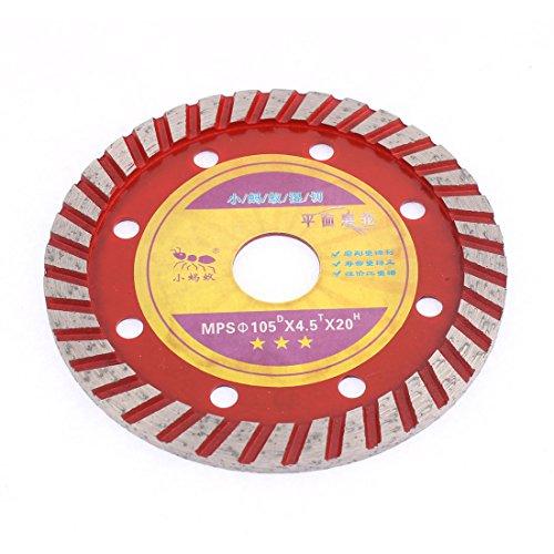 sourcingmap 105mmx20mm Betonbohrer Diamantschleifer Polier- Scheibe Sägeblatt Rot
