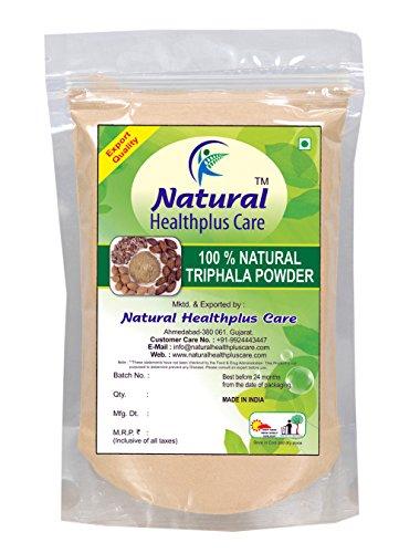 100% Natural Triphala (AMLA, HARAD, BAHEDA) Powder to PREVENT HAIR FALL NATURALLY (227 g)  available at amazon for Rs.254
