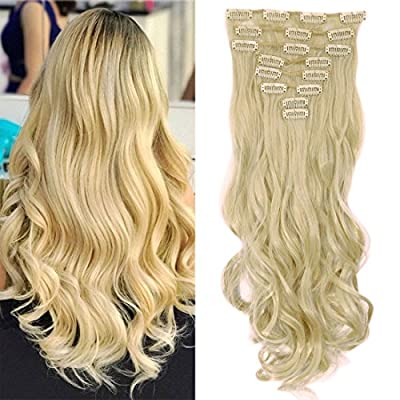 """S-noilite - Hot Fashion 17"""" Curly Clip in Hair Extensions Full Head 8Pcs Hairpiece from S-noilite"""