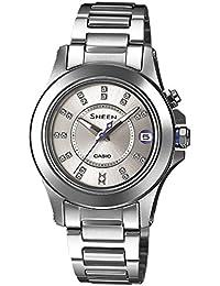 Casio Damen-Armbanduhr XS Analog Quarz Edelstahl SHE-4509D-7AER