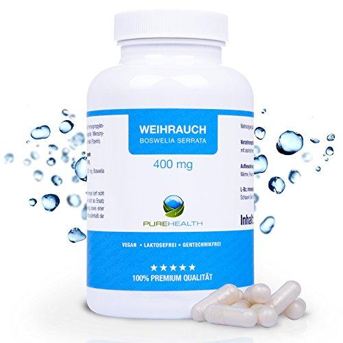 Boswellia Weihrauch Kapseln • Natürlicher Entzündungshemmer • HOCHDOSIERT 400 mg pro Kapsel • 150 Kapseln = hält länger als 1...