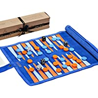 Jaques Juego de Backgammon of London - LTD Etd para 2018 - Royal Racing Blue