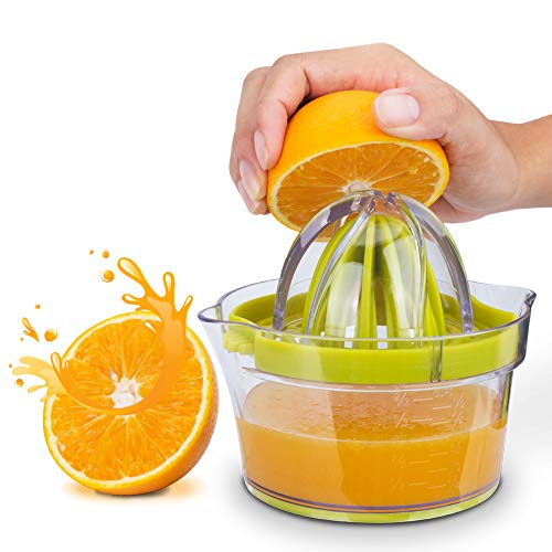 HHFZH Mini Zitruspresse, Orangen-Zitronenpresse, Tragbare 4-In-1-Anzug Multifunktionale Limettenpresse Mit Großen Reibahlen Und Ingwer-Knoblauch-Reibe